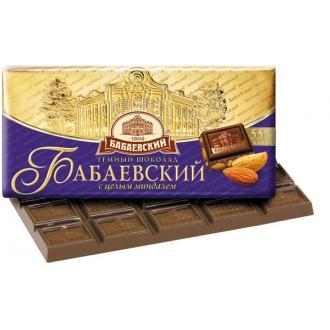 Бабаевский  шоколад 100гх15шт*(4бл) с МИНДАЛЕМ горький