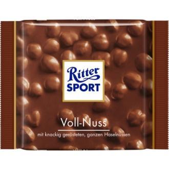 Риттер спорт 100г*10 Молочный шоколад /Двойной орех