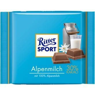 Риттер спорт 100г*12 Альпийское молоко