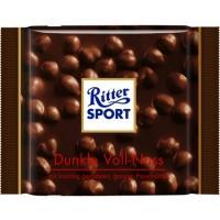 Риттер спорт 100г*10 Горький шоколад /Цельный фундук