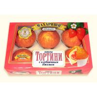 Тортини Кексы 200г*16 клубника