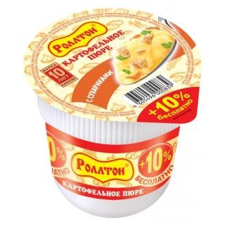 Пюре картоф. 'Роллтон ' 40г*24 Сухарики