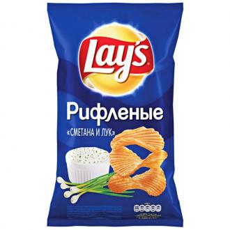 Лейс  150 г*18 чипсы Сметана/Лук