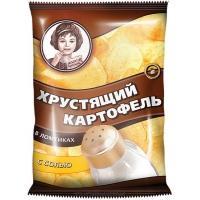 """Хрустящий Картофель чипсы """"Девочка"""" 40г*30 Соль"""