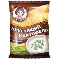 Хрустящий Картофель чипсы  'Девочка ' 40г*30 Сметана/Лук