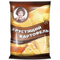 Хрустящий Картофель чипсы  'Девочка ' 40г*30 Сыр