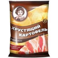 Хрустящий Картофель чипсы  'Девочка '160г*9 Бекон