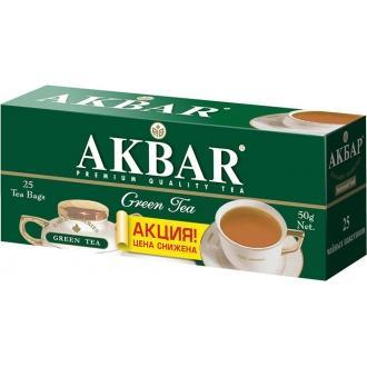 Акбар чай 25 пак.с/я*2г*(24) Зеленый чай
