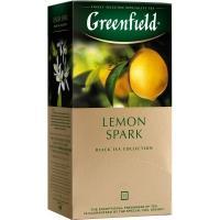 Гринфилд чай 25пак*1,5г*(10) Лимон Спарк /лимон/цедра цитрусовых