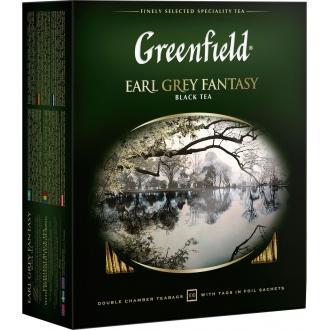 Гринфилд чай 100пак*2г*(9) Эрл Грей черный/бергамот