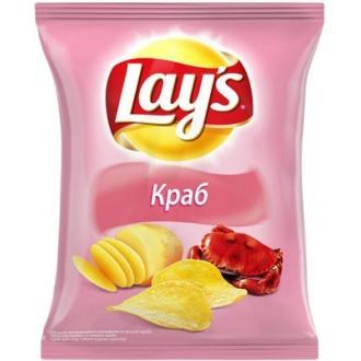Лейс  150 г*18 чипсы  Краб
