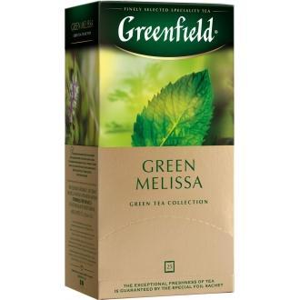 Гринфилд чай 25пак*1,5г*(10) Грин Мелисса зеленый/мелисса