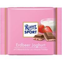 Риттер спорт 100г*12 Клубника в йогурте мол.шоколад
