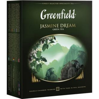 Гринфилд чай 100пак*2г*(9) Жасмин Дрим з...