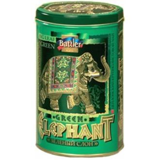Баттлер чай Зеленый слон ж/б 200г*6