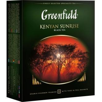 Гринфилд чай 100пак*1,5г*(9) Кения Санрайз черный/кенийский