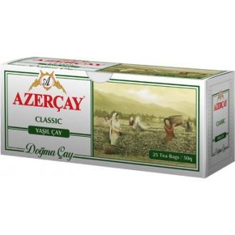 Азерчай  25 пак*2г*(24) Зеленый чай