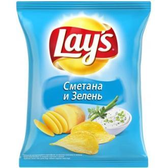 Лейс  225 г*14 чипсы Сметана зелень