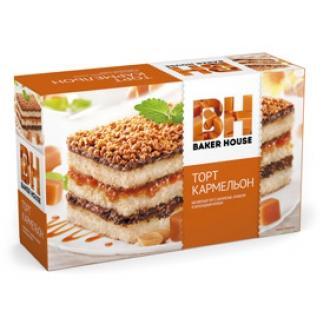 Торт бисквитный Baker House 350г*8 Карам...