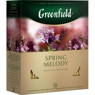 Гринфилд чай 100пак*1,5г*(9) Спринг Мелоди черный/чабрец/мята
