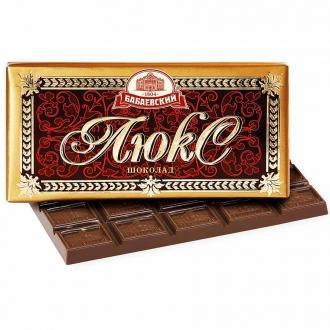 Люкс темный шоколад 100гх17шт*(4бл)