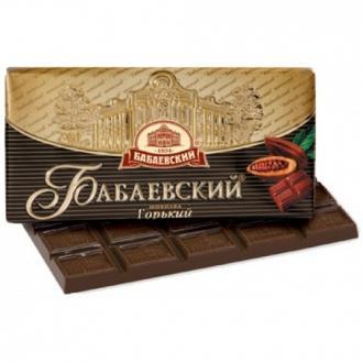 Бабаевский  шоколад 100гх17шт*(4бл) ГОРЬКИЙ внимание вложение!!!