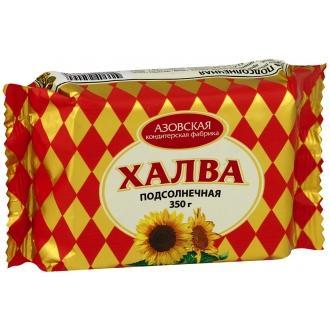 """Халва подсолнечная""""Азовская"""" 350г*16"""
