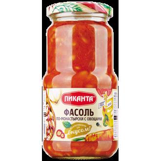 Фасоль по-монастырски с овощами Пиканта 530г*6