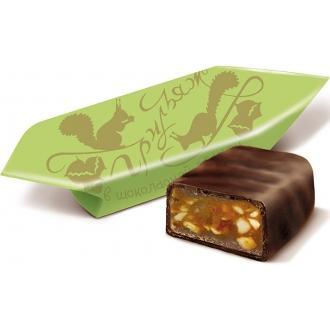 Грильяж в шоколаде РФ шок.конфеты 200г*15