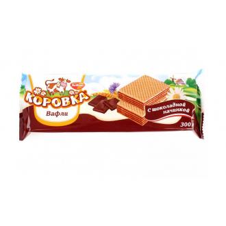 Вафли 'РотФронт 'Коровка 300г*11 Шоколадная