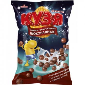 Кузя Лакомкин 215г*8 Шоколадные шарики мультизерновые