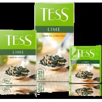 Тесс Чай  100п*1,5гр*(9) Лайм зеленый/цедра лайма