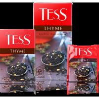 Тесс Чай  100п*1,5гр*(9) Тайм чёрный/чабрец/цедра лимона