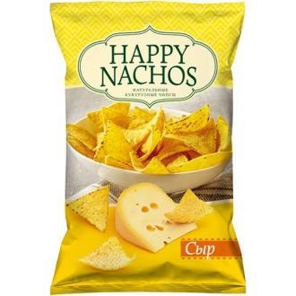 "Чипсы кукурузные ""Happy Nachos"" 150г*18 Сыр"