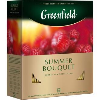 Гринфилд чай 100пак*1,5г*(9) Самма Букет травяной/малина/шиповник