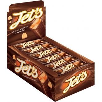 Батончики JET S с печеньем и мягк.караме...