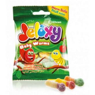 Джелекси (Jelaxy) жев. мармелад 80г*12 Черви маленькие