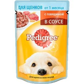 Педигри  85гр*24 для щенков (Говядина соус)