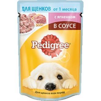Педигри  85гр*24 для щенков (Ягненок соус)