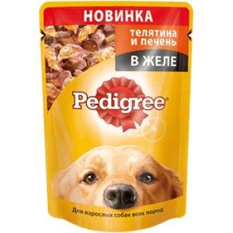 Педигри  100гр*24 желе Телятина/печень
