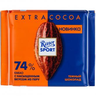Риттер спорт 100г*12 Темный шоколад 74% какао