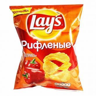 Лейс  150 г*18 чипсы рифленые Паприка