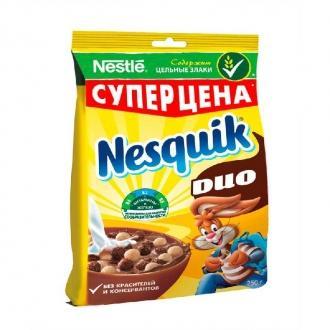 Несквик Пакет 250г*12 DUO Шоколадные шарики