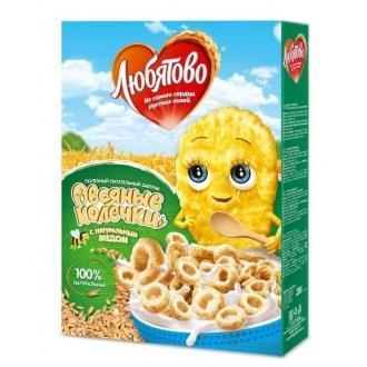 Завтраки сухие 'ЛЮБЯТОВО ' 200г*10 Колеч...