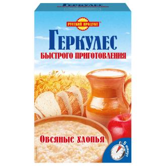 """Геркулес """"Русский Продукт"""" быстрого приготовления 1100гр*4 Овсяные хлопья"""