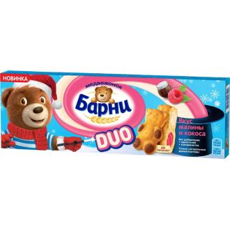 Барни Медвежонок  ДУО 150г*20 Малина/Кокос
