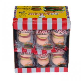 Жевательный мармелад  'Супер Бургер '+ зефир 20г*24*(12бл)