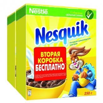 Несквик  ПРОМО (250г.+250г.)*8 Шоколадны...