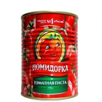Томатная паста  'Помидорка ' ж/б ключ 77...