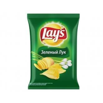 Лейс  50 г*28 чипсы Зеленый лук